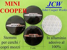 MINI COOPER S JCW ONE 5 cm 50 mm Jonh Cooper Works Mozzi Tappi Cerchi Stemma NEW