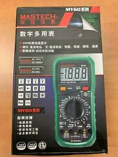 MASTECH MY61 DMM Multimeter Ammeter Ohmmeter w/ Capacitance & hFE Test UK STOCK