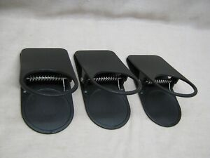 SET OF 3 BLACK CUP CAN GLASS HOLDERS LAWN CHAIRS PICNICS DRINK HOLDERS