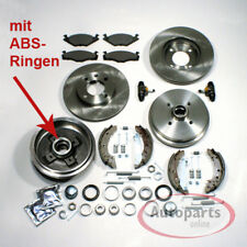 VW Polo 6n - Frenos Discos de Set Delantero ABS Tambor Del Accesorio Kit Trasero