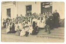 WIELICZKA GIRLS SCHOOL CHOIR PHOTO POSTCARD POLAND 1919