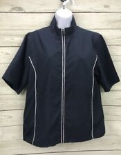 Monterey Club womens Mid sleeve full zip NWT $81 style # 2763-380 Size M