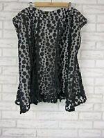 SARA Skirt Sz 26 Black, Gray Lace Print