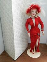 "Franklin Mint Heirloom 19"" Porcelain Doll MARILYN MONROE Gentlemen Prefer Blonds"