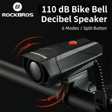 Bicycle Bell electric 110 dB Horn 6Modes MTB Road Bike RC Loud Speaker ROCKBROS