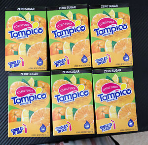 Tampico Sugar Free Singles Drink Mix Lot of 6 Boxes Citrus Punch 18 Pack Ex 2022