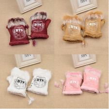 Kpop BTS Guandi Invernali Senza Dita Pelle di Daino Unisex Fans Regalo Glove