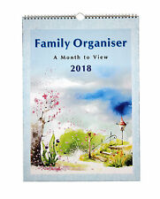 2018 Large A3 Family Organiser Calendar - One Month To View