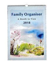 2018 famiglia Organizzatore Large A3 Spirale Planner mese calendario 5 colonne per visualizzare