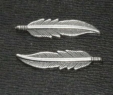 'SILVER'  HAWK FEATHER MENUKI: Japanese Samurai Sword Katana Decoration