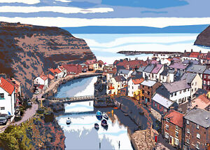 Staithes Limited Art Print By Sarah Jane Holt Large Version