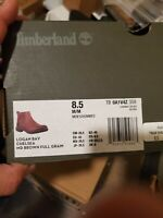 Timberland Mens TB0A1V4Z358 Leather Round Toe Ankle Motorcycle, Brown, Size 8.5