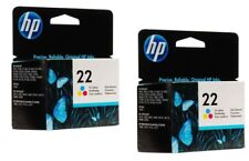 Lot of 2 HP #22 22 Color Ink Cartridges NEW GENUINE