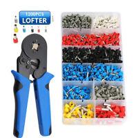 0.25-10mm² Crimping Tool Set Wire Crimper Pliers 1200pcs Ferrule Terminals Kit