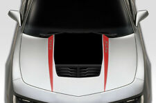 """Vinyl Graphics Decal Wrap for Chevy Chevrolet Camaro 10-15 """"RS"""" HOOD SPEARS Red"""