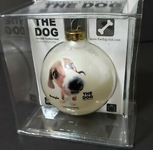 New Beagle Topperscot The Dog  Artist Collection Glass Christmas Tree Ornament