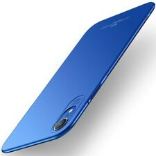 MSVII Hard Case ultradünne PC Handyhülle Matt Cover Blau für Apple iPhone XR