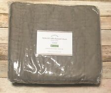 Pottery Barn Cotton Silk Channel Pillow Sham Tencel Standard Brownstone NEW PB