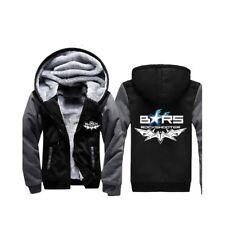 BLACK ROCK SHOOTER BRS Cosplay Costume Hoodie Fleece Jacket#1, BLACK & GREY