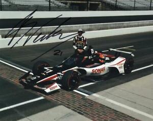 Rinus Veekay autographed 2020 Indy 500 8x10 photo