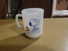 Vintage Anchor Hocking Fire King Snoopy COFFEE BREAK Milk Glass Coffee Mug