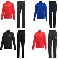 Adidas Mens Tracksuit MTS Basics Bottoms Football Training Top Jacket Blue Black