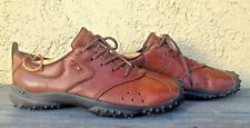 DIESEL WOMEN'S SZ 7.5M BROWN LEATHER COMFORTABLE LACE-UP WALKING CASUAL SHOES