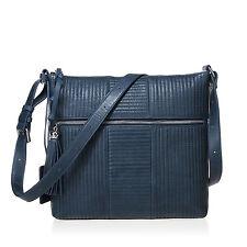New Lusso Genuine Italian Vintage  Leather Handbag - Fabulous Denim Blue!
