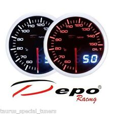 Manometro Temperatura Olio 50-150°C tuning DEPO Racing Dual View sfondo Nero