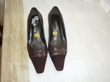 Van Dal shoes size 5½ Uk, dark brown/bronze leather and suede, lightly used