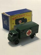 Matchbox 63 Military Ambulance with Original Box