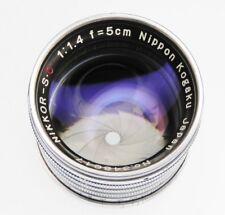 Nikkor 5cm f1.4 Leica SM  #348617