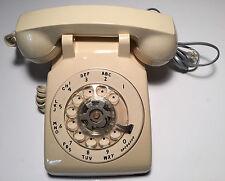 Vintage 1985 Lippincott Industries Inc. Cream Rotary Dial Desk Telephone