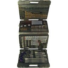 204pc Assorted Drill Bit Twist Set Kit Metric Heavy Duty Tools with Warranty New