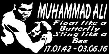 MUHAMMAD ALI STICKER CASSIUS CLAY FLOAT LIKE A BUTTERFLY STING LIKE A BEE R.I.P