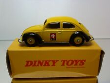 DINKY TOYS ATLAS 262 VW VOLKSWAGEN BEETLE SWISS PTT - YELLOW 1:43 - EXCELLENT IB