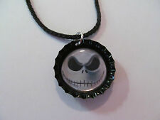 Nightmare Before Christmas Bottle Cap Necklace on 19in cord necklace