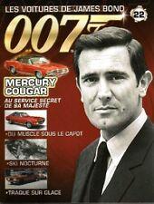 FASCICULE BOOKLET JAMES BOND 007 MERCURY COUGAR N°22