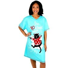 """Snow Angel Cat Nightshirt """"I'm sNOw Angel"""" / 100% Cotton / One size fits most"""