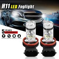 H11 H8 H9 100W LED Fog Light Conversion Bulbs Driving Lamp DRL 6000K HID White