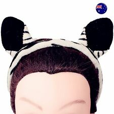 Women Lady Girl Black White Striped Zebra Bear Ears Party Hair Headband band