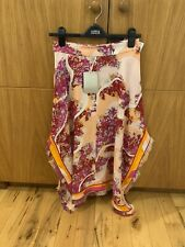 Emilio Pucci Silk Skirt Frayed Effect Size UK 6 US 4 XS. RRP £900 19.5 Inches