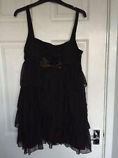 Atmosphere Women Black Fifties Style Layered Slip Dress Size 10