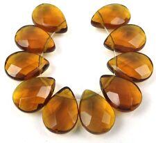 18x13mm Topza glass Quartz Faceted Briolette Teardrop Beads (10)