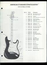 Rare Fender 10-7400/7402 American Standard Stratocaster Guitar Dealer Brochure