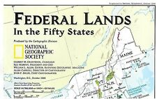 *NATIONAL GEOGRAPHIC MAP - FEDERAL LANDS IN THE FIFTY STATES - October 1996