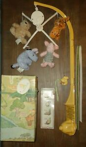 Classic Winnie The Pooh Deluxe Musical Mobile Tigger Piglet Eeyore w/ Box WORKS!