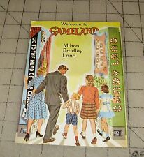1962 Welcome To Gameland - Milton Bradley Land Game Catalog - Nice !