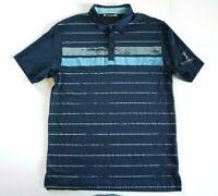 TRAVIS MATHEW  Men's S/S Polyester Golf Polo Shirt BLUE Size LARGE L