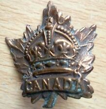 Badge- WW1 Canadian General Service Corps Badge (BRASS, Genuine*) 30 mm